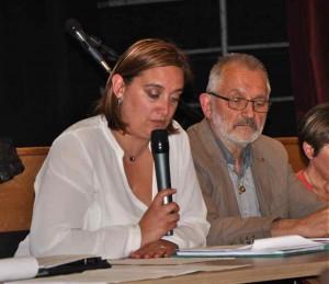 La vice présidente du conseil départemental et le maire.  Crédit photo Brigitte Boulay www.actu88.fr/