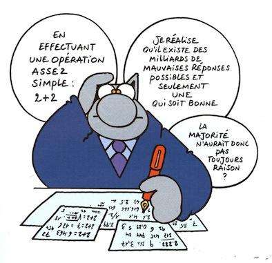Le Chat et la majorité (dessin de P. Gelluck)